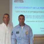 Dominique Lucas et le Cne Ludovic Bourgeon de la PAF